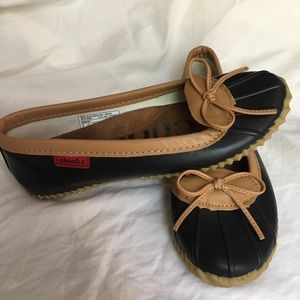 Chooka Duck Simmer Black Waterproof Flats